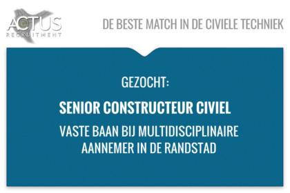 Senior constructeur civiel, infra, TU, HTS, betonbouw, staalbouw, FEM, HTI, Kunstwerk