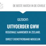 Functienaam: Uitvoerder GWW Standplaats: Goes trefwoord: uitvoerder, wegen, civiel, UAV-GC, RWS, Toezichthouder, Voorman, GWW, riolering, Aannemer