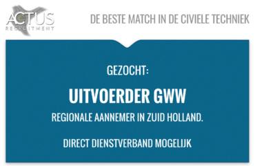 uitvoerder, GWW, wegenbouw, Zuid Holland, civiel, UAV-GC, Autocad, RWS, voorman
