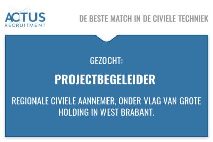 Werkvoorbereider, coördinator, civiel, beton, RWZI, Aannemer, West Brabant, UAV-gc, Infra, GWW vaste baan
