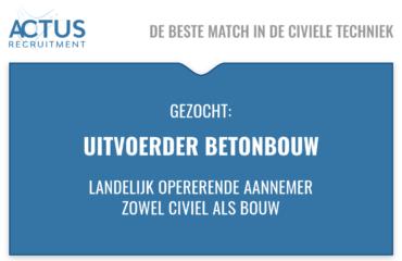 Functienaam: uitvoerder betonbouw Standplaats: Dordrecht Trefwoorden: civiele techniek, GWW, Dordrecht, Duurzaam, infra projecten, Kunstwerken, RWS, Provincie, Waterschappen